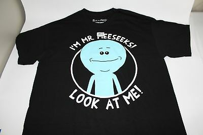 Mens Rick and Morty T-shirt Tee - Size XL - Im Mr- Meeseeks Look at Me - NEW