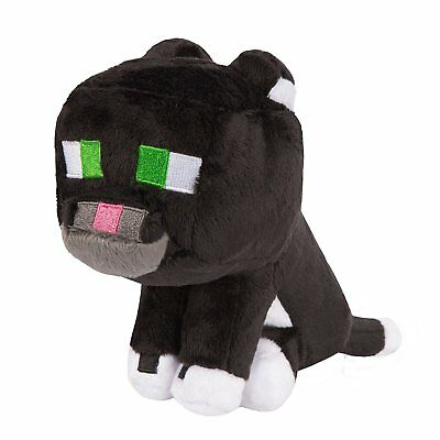 New Minecraft Tuxedo Cat 7 Plush Toy