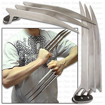 1 Pair 2 pcs Full Size 9-45 Stainless Steel X Men Wolverine Wolf Claws 2 lbs