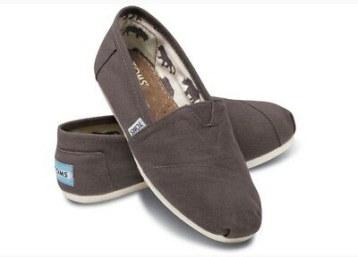 NEW Authentic Womens Toms Classic Canvas Slip Ons-Color Ash various sizes NIB