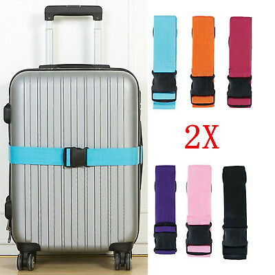 2X Travel Safty Luggage Packing Suitcase Strap Baggage Backpack Bag Belt New USA