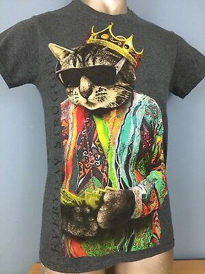 Notorious Cat Shirt BIG Biggie Everyday Struggle Rap Hip Hop Punk Mens Small