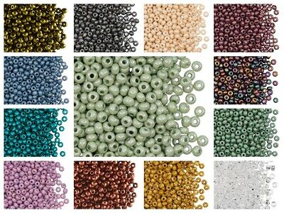 CHOOSE COLOR 20g cca- 260pcs 60 Seed Beads Czech Glass