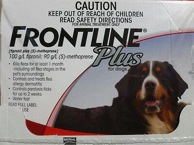 Frontline Plus for Extra Large Dogs 89-132lbs 6 Pack 6 Month Supply New