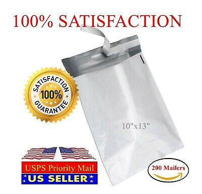 200 10x13 Light Poly Mailer 2 Mil Shipping Mailing Packaging Envelope Bags