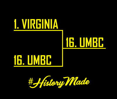 UMBC Upsets Virginia shirt HISTORY MADE Maryland Baltimore County March Madness