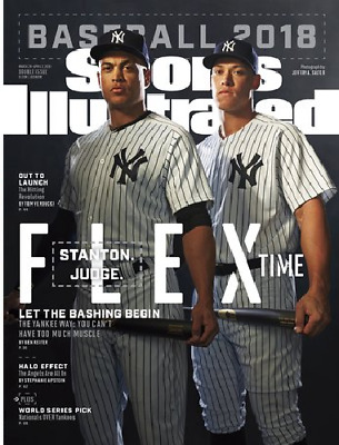STANTON JUDGE NY YANKEES BASEBALL PREVIEW - SPORTS ILLUSTRATED MARCH 2018 - NEW