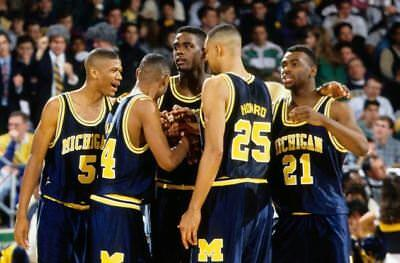 MICHIGAN FAB FIVE 5 Poster Print 2 feet x 3 feet NCAA MARCH MADNESS POSTER D