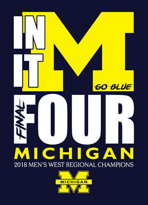 2018 University of Michigan Wolverines FINAL FOUR shirt March Madness basketball