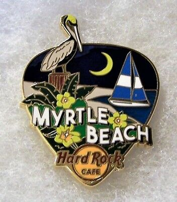 HARD ROCK CAFE MYRTLE BEACH GREETINGS FROM GUITAR PICK SERIES PIN  95978