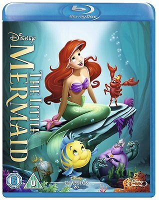 The Little Mermaid 1989 Blu-Ray Disney BRAND NEW Free Shipping