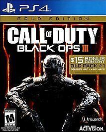 Brand New Call of Duty Black Ops III - Gold Edition Sony PlayStation 4 2016