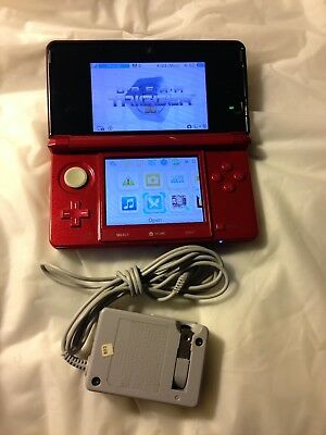 Nintendo 3DS Original CTR-001 Red Handheld System