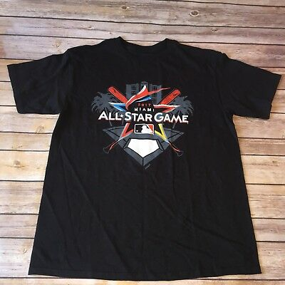 MIAMI MARLINS 2017 ALL STAR GAME HOME RUN DERBY T-SHIRT MENs Size Large Baseball