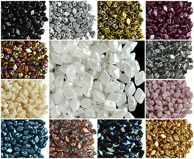 CHOOSE COLOR 30pcs 4x6mm DiamonDuo™ Mini Beads Czech Pressed Glass