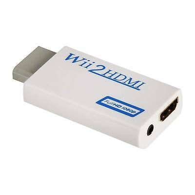 Wii to HDMI Wii 2 HDMI Full HD Portable Converter Adapter 3-5mm Audio Out
