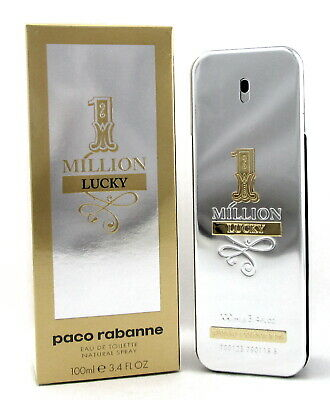 1 Million Lucky Cologne by Paco Rabanne 3-4 oz EDT Spray for Men NEW