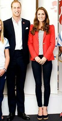 Zara Red Blazer Size M ASO Kate Middleton Duchess