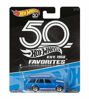 Hot Wheels 50th Anniversary Favorites 71 Datsun Bluebird 510 Wagon 164 Scale