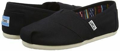 NEW - Authentic TOMS Womens CLASSIC Black Canvas flats shoes - PICK SIZE