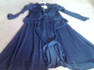 Issa London Blue Silk Wrap Engagement Dress Kate Middleton COPY BY J HOWARD NEW
