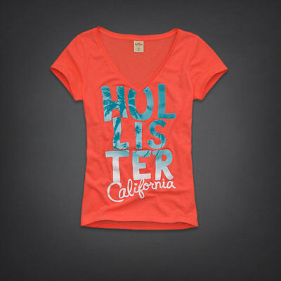 Hollister Co- Womens Vintage Strands Point T-Shirt Graphic Tee Large Lg