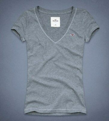 Hollister Co- Womens Vintage Bay Street T-Shirt Graphic Tee Grey Small