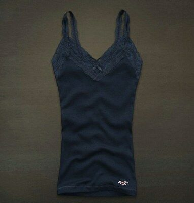 Hollister Co- Womens Vintage Fletcher Cove Tank Top T-Shirt Graphic Tee Navy S