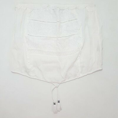 NEW AEO American Eagle Outfitters AE White Embroidered Lace Crop Tube Top XL
