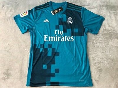 Cristiano Ronaldo Real Madrid Soccer Team Blue Away Jersey - New Mens - Size L