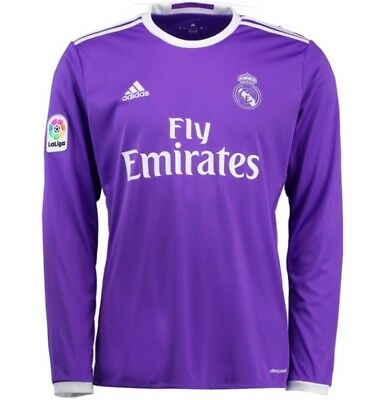 ADIDAS REAL MADRID AWAY JERSEY LONG SLEEVE YOUTH SIZE M AUTHENTIC NEW NWT