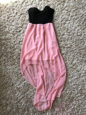Pink - Black WomensJuniors Wet Seal High Low Hem Dress Size S