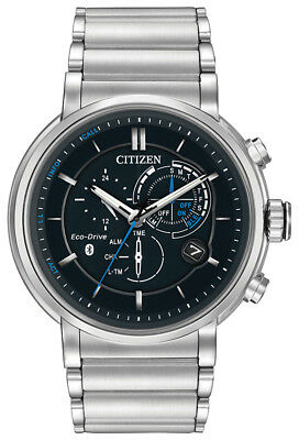 Citizen Eco-Drive Mens BZ1000-54E Proximity Bluetooth Silver-Tone 46mm Watch