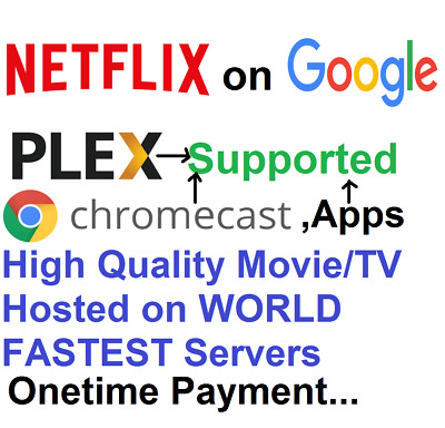 Lifetime Free MovieTv streaming for AppsChromecastPlex-Google Drive Unlimited