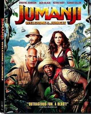 Jumanji Welcome to the Jungle DVD 2018 BRAND NEW  FREE SHIPPING