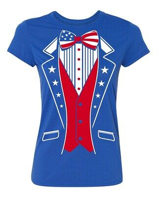 USA Tuxedo Patriotic 4th of July Womens T-shirt