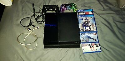 PlayStation 4 500GB Console W GALAXY CONTROLLER-4 GAMES EVERYTHING INCLUDED