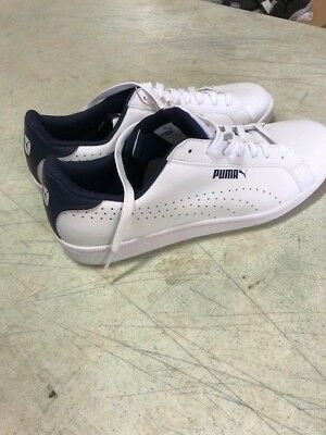 NEW PUMA Mens Smash Perf C Leather White Athletic Tennis Shoe Pick Size