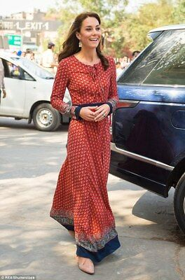 Stylish Maxi Dress size xs - KATE MIDDLETON India tour