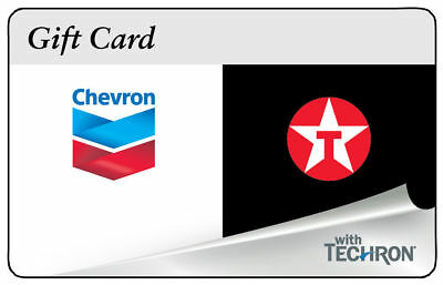 100 Chevron Texaco Gas Physical Gift Card - Standard 1st Class Mail Delivery