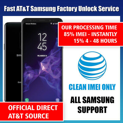 FACTORY UNLOCK CODE SERVICE AT-T ATT for SAMSUNG GALAXY S8 S7 S6 S5 S4 S3 NOTEs