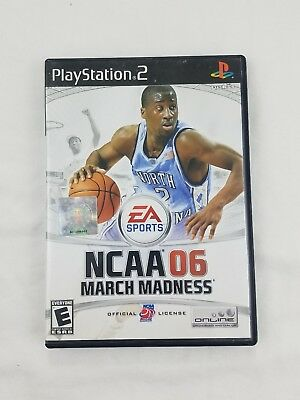 EA SPORTS NCAA MARCH MADNESS 06 PS2 COMPLETE with MANUAL