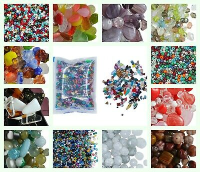 CHOOSE COLOR 40gr Mix of Preciosa Beads Different Shapes-Size Czech Glass