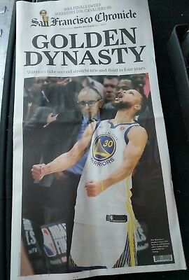 SF Chronicle Newspaper 2018 Golden State Warriors NBA Champs 6918 Dynasty FULL