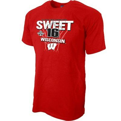 Blue 84 Wisconsin Badgers Red 2017 NCAA Mens Basketball Tournament Sweet 16