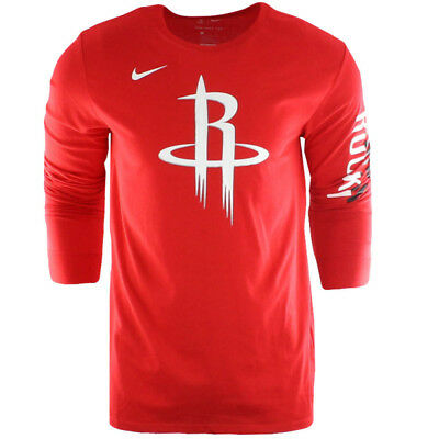 Nike NBA Houston Rockets Dry Es Logo Dri-Fit Long Sleeve Tee 870706 657 40 I