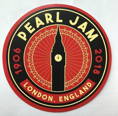 Pearl Jam Sticker 2018 London O2 Arena Night 2 Big Ben W CANCELLED NOTICE
