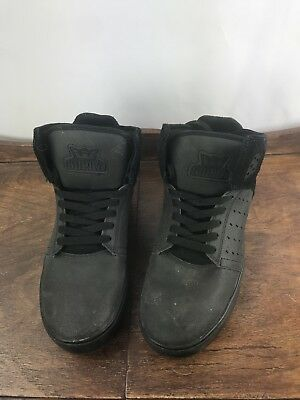 SUPRA MUSKA 001 SHOES  BLACK ON BLACK  MEN SIZE 9-5 - EUC