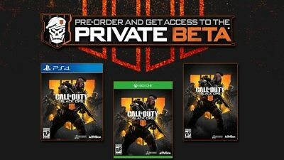 Call Of Duty Black Ops 4 PRIVATE-BETA-ACCESS KEY XBOX ONE PS4 OR BATTLE NET