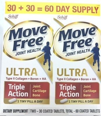 Move Free - Schiff Joint - Bone Health Supplement - Ultra Triple Action 60 Tabs